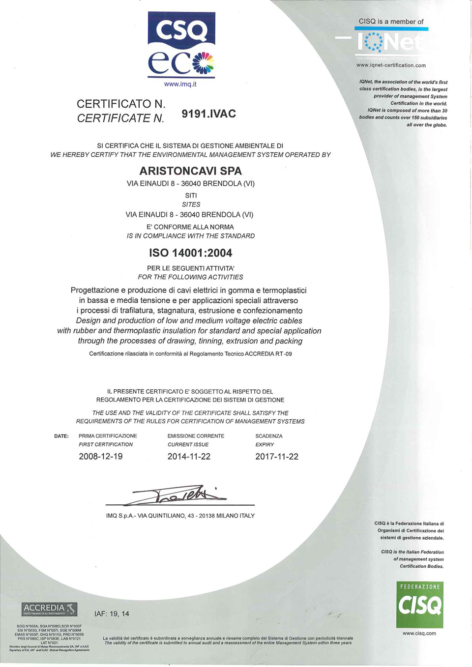 Quality Certification Everwell Cables Electricaleverwell Cables